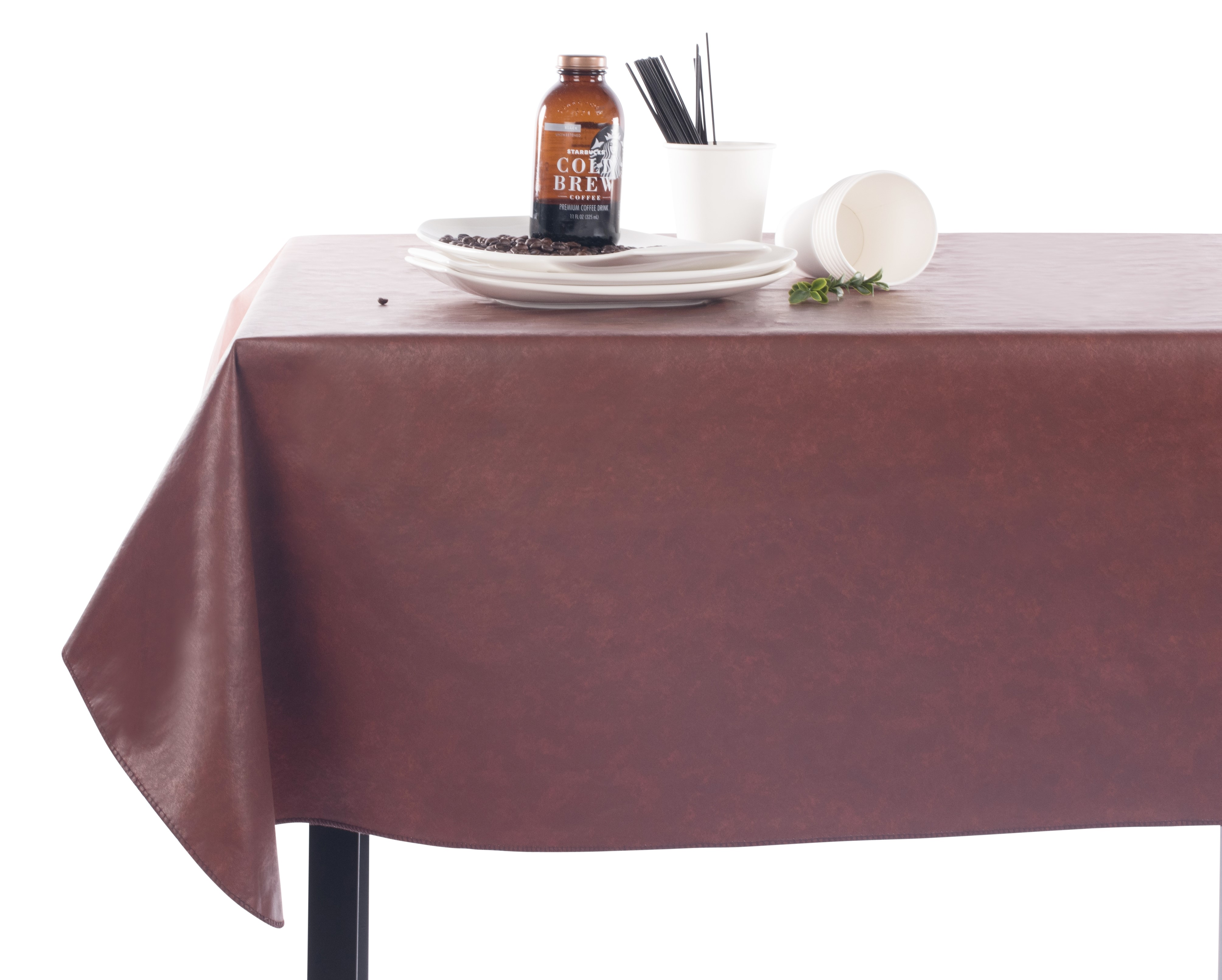 Rust Print Vinyl Rectangle Square  Tablecloth Setting.jpg